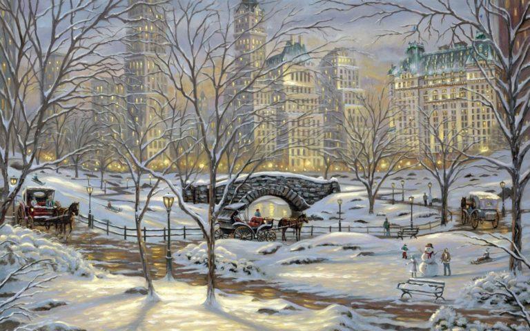 Painting Winter Snow 1440 x 900 768x480