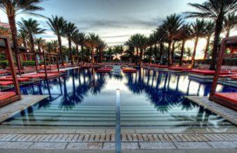 Palm Trees Swimming Pool 1920 x 1080 340x220