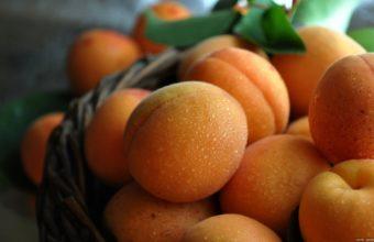 Peach Fruit Summer Water Drops 1920 x 1200 340x220