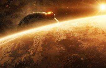 Planet Space Sun 1440 X 840 340x220