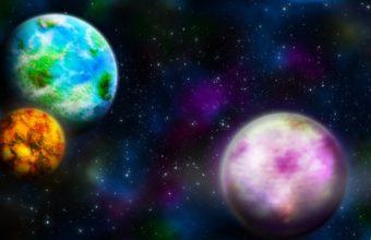 Planets Multi Colored Earth 1440 x 810 340x220
