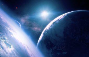 Planets Stars Rays 1920 x 1140 340x220