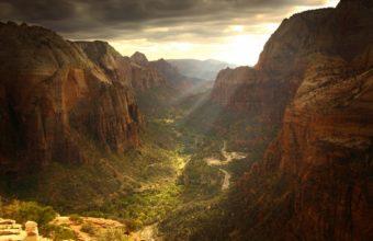 Ravine Sunlight Landscape Rocks 1920 x 1200 340x220