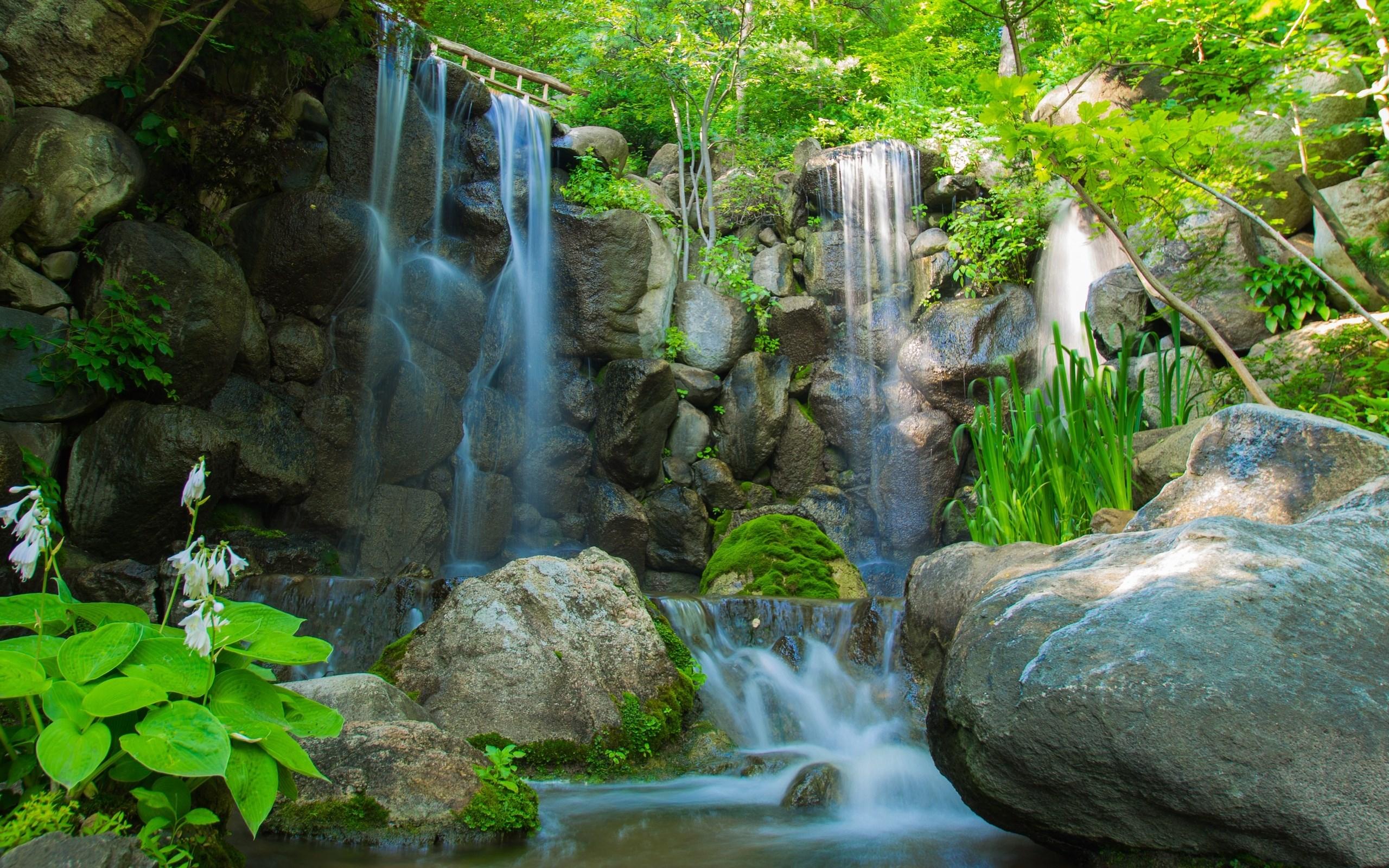 водопад река камни загрузить