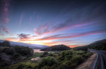 Road Sunset Sky 1920 x 1200 340x220