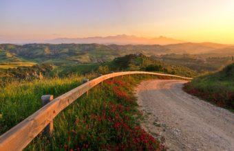 Road Turn Sunset 2560 x 1600 340x220