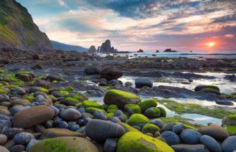 Rocks Stones Sunset Sunlight 1920 x 1080 340x220