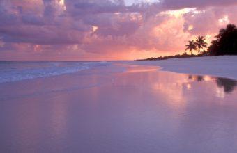 Sand Landscapes Ocean Sunset Sky 1920 x 1080 340x220