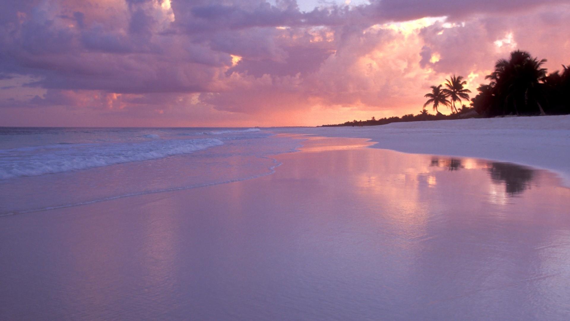 Sand Landscapes Ocean Sunset Sky