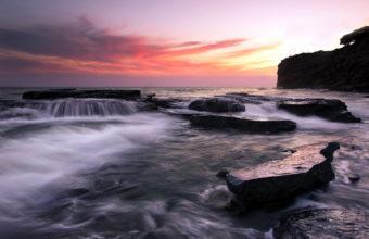 Sea AeYaeY Cliffs Sunset Landscape 1920 x 1280 340x220