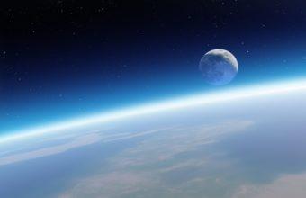 Sky Earth And Moon 3200 x 2000 340x220