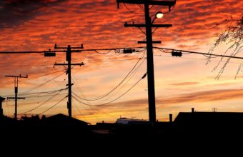 Sky Sunset Wires 1920 x 1080 340x220