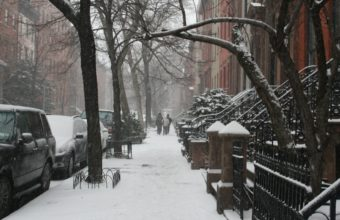 Snow On A New York Street 1920 x 1080 340x220