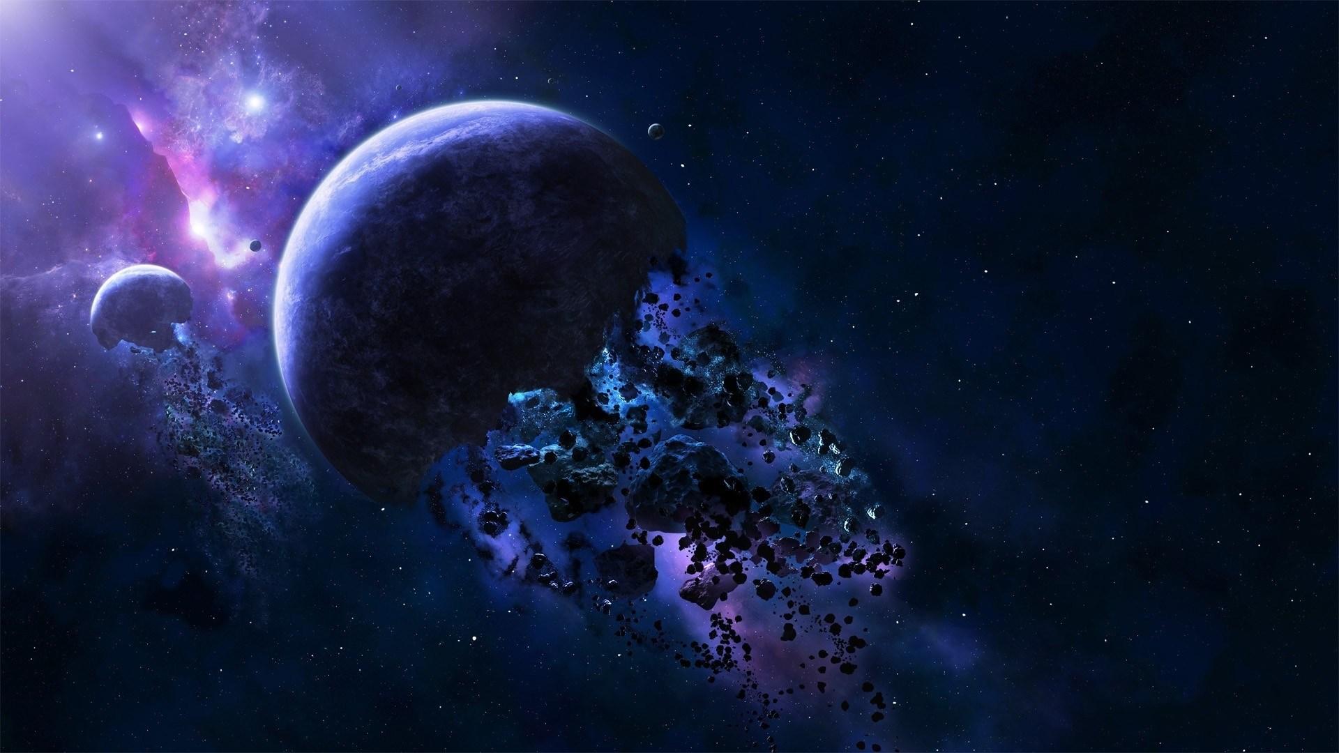 Space 3d Art Stars Planet