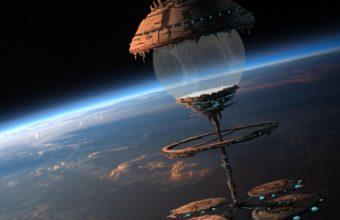 Space Orbital Stations Sci Fi Spaceship 1920 x 1080 340x220