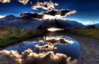 Sun Clouds Lake 1680 x 1050 340x220