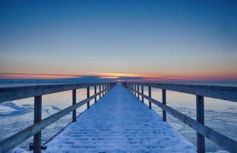 Sunrise On Snow Road 1920 x 1200 340x220