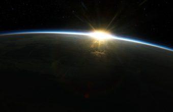 Sunrise Sun Outer Space Earth 1920 x 1080 340x220