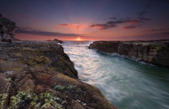 Sunset At Muriwai Beach 2560 x 1600 340x220