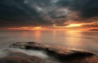 Sunset Clouds Sun Skies Sea 1920 x 1200 340x220