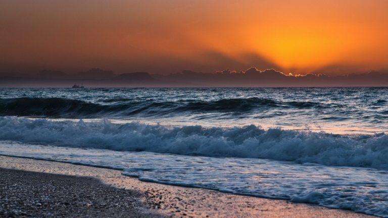 Sunset Ocean Clouds Landscapes 1920 x 1080 768x432