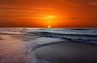 Sunset Orange Beach Ocean 1920 x 1080 340x220