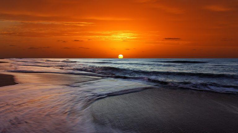 Sunset Orange Beach Ocean 1920 x 1080 768x432