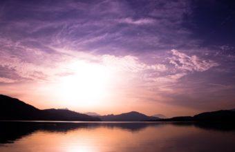 Sunset Over Lake 2560 x 1600 340x220