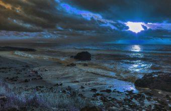 Sunset Sea Beach Landscape Ocean 1920 x 1200 340x220
