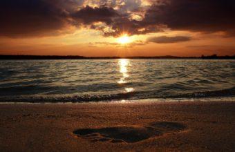 Water Sunset Landscapes Beach 1920 x 1200 340x220