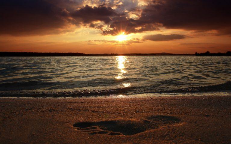 Water Sunset Landscapes Beach 1920 x 1200 768x480