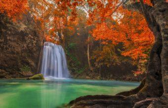 Waterfall Pond Trees 4500 x 2871 340x220