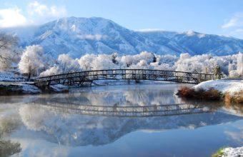 Winter Bridge Landscape 2560 x 1600 340x220