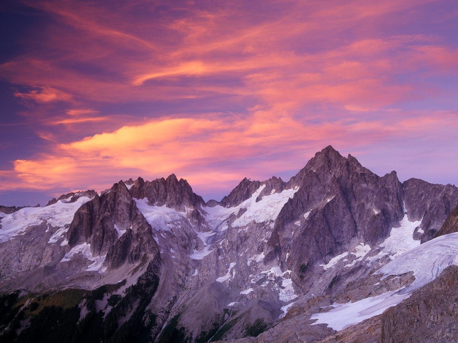 Winter Evening Mountains - [1600 x 1200]