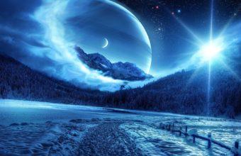 Winter Night Mountains 1920 x 1200 1 340x220
