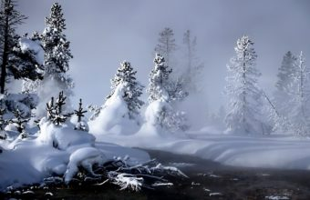 Winter River Evaporation 1920 x 1200 340x220