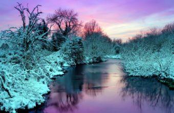Winter River Nature Landscape 1920 x 1200 340x220