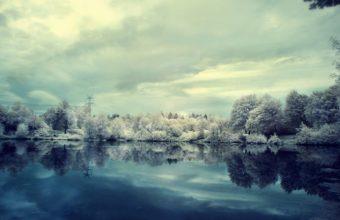 Winter Snow Lake 1920 x 1200 340x220