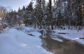 Winter Snow River 3860 X 2572 340x220