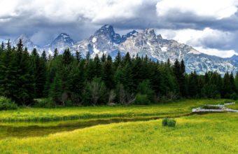 Wood Stream Mountains 3840 x 2400 340x220