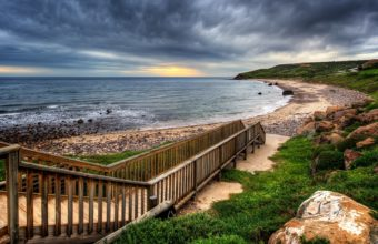 Wooden Walkway To The Beach Hdr 1920 x 1080 340x220