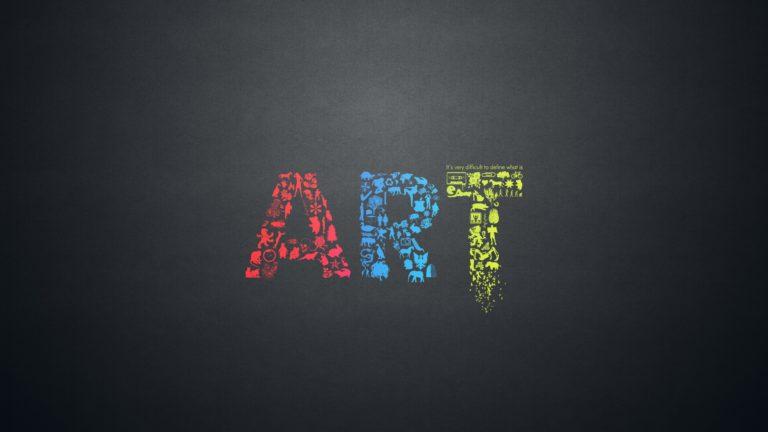 Art Letters Creative Minimalsim 3840x2160 768x432