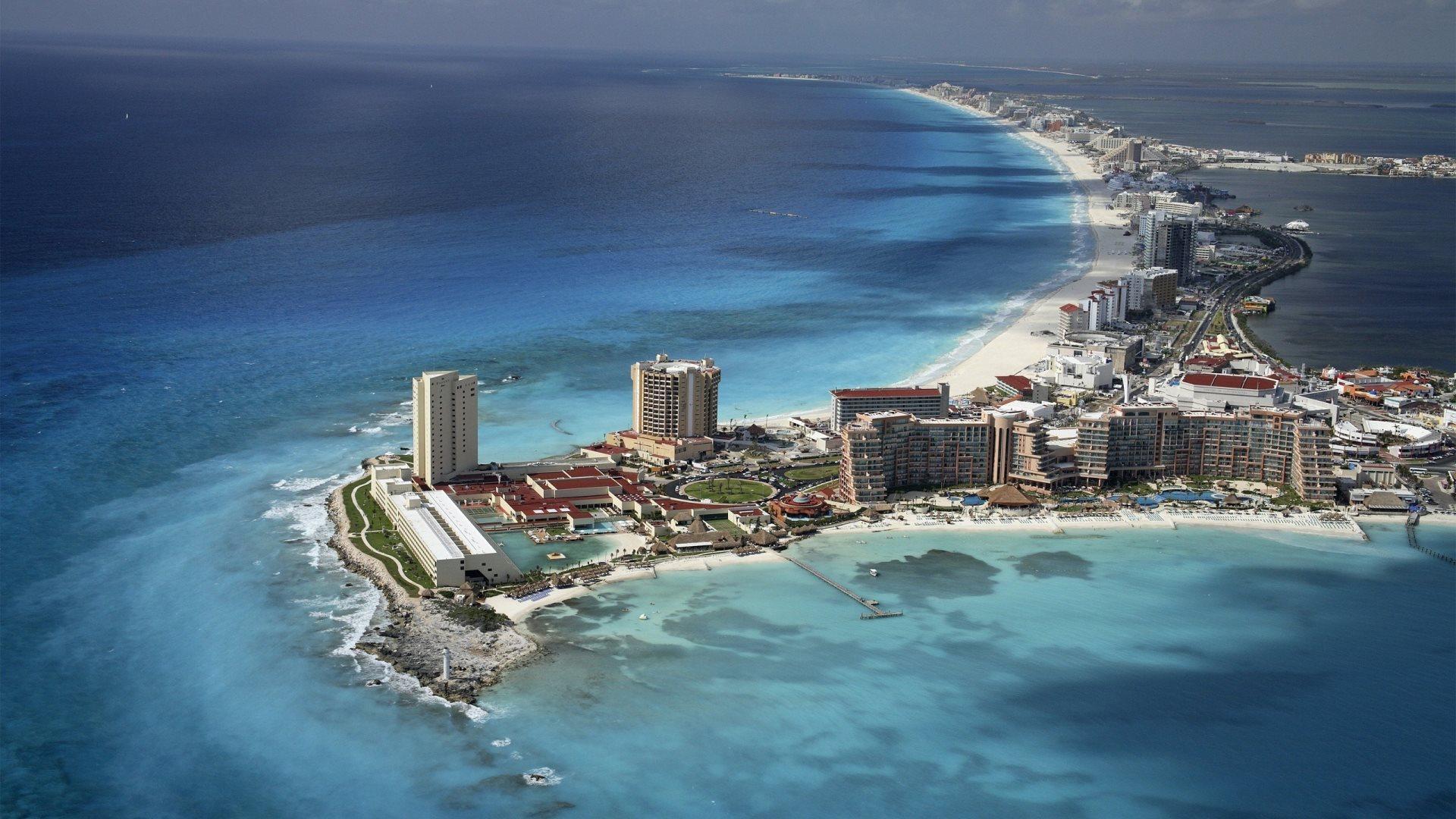 Cancun Mexico Beach City - [1920 x 1080]