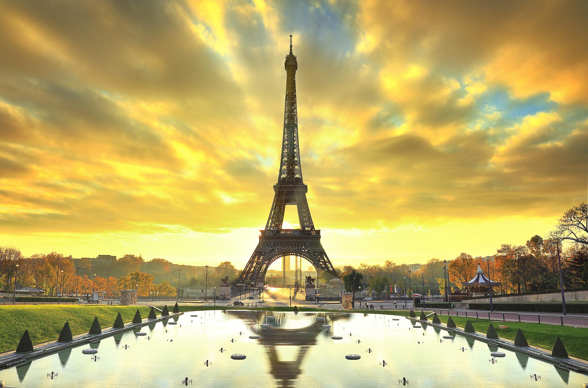 природа страны архитектура Марсово поле Париж Франция  № 824032 бесплатно