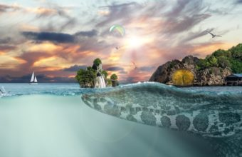 Sea Island Fantasy Hd 1336x768 340x220