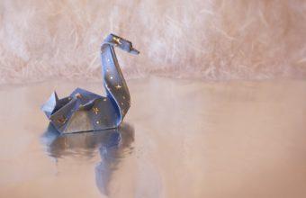 Swan Origami 1336x768 340x220