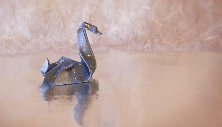 Swan Origami 1336x768 768x441