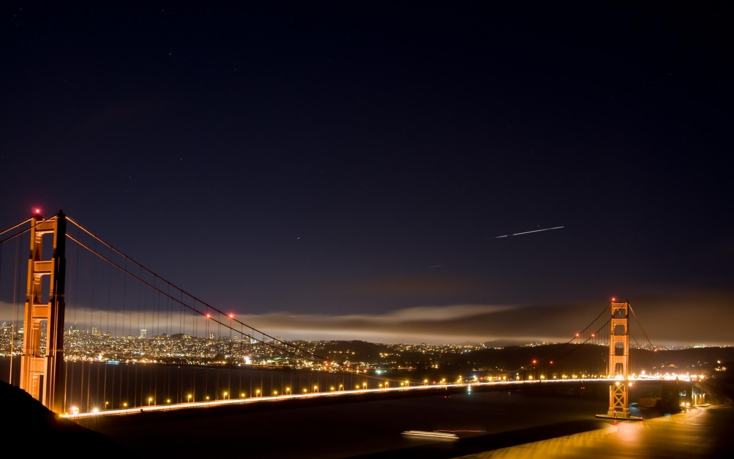 Мост огни ночь  № 3716541 без смс