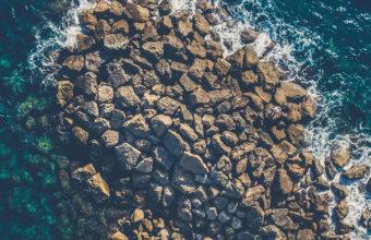 Aeiral View Sea Water Coast Rocks Yp Wallpaper 640 x 960 340x220