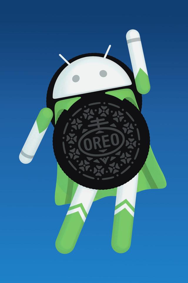 Android Oreo Logo 17 Wallpaper 640 x 960